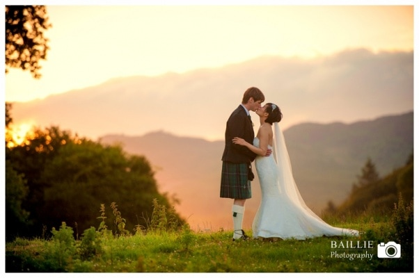 Dumfries Wedding Sunset