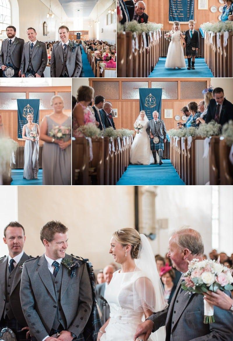 Wedding in Kirkcolm Church