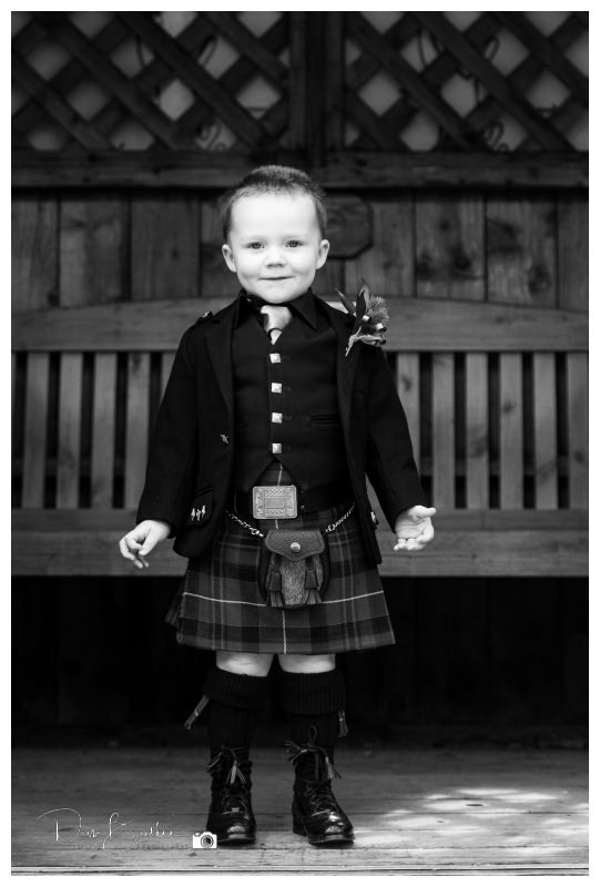 Boy in kilt