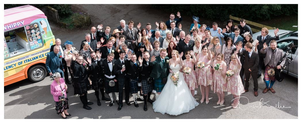Wedding Guests at Clonyard House at Dalbeattie