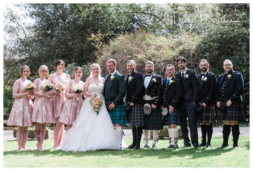 Bridal Party at Clonyard House at Dalbeattie