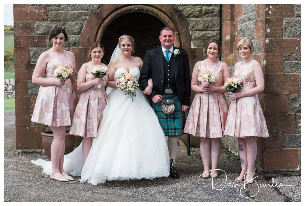 Bridal Party at Colvend Church