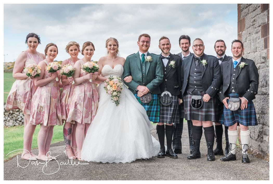 Bridal Party at Colvend Church Dalbeattie