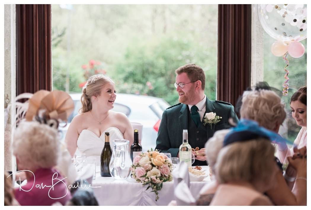 Wedding Breakfast at Colvend House Hotel