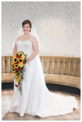 sunflower teardrop bridal bouquet dumfries and galloway