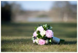 brides bouquet on grass