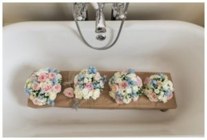 wedding flowers in a bath