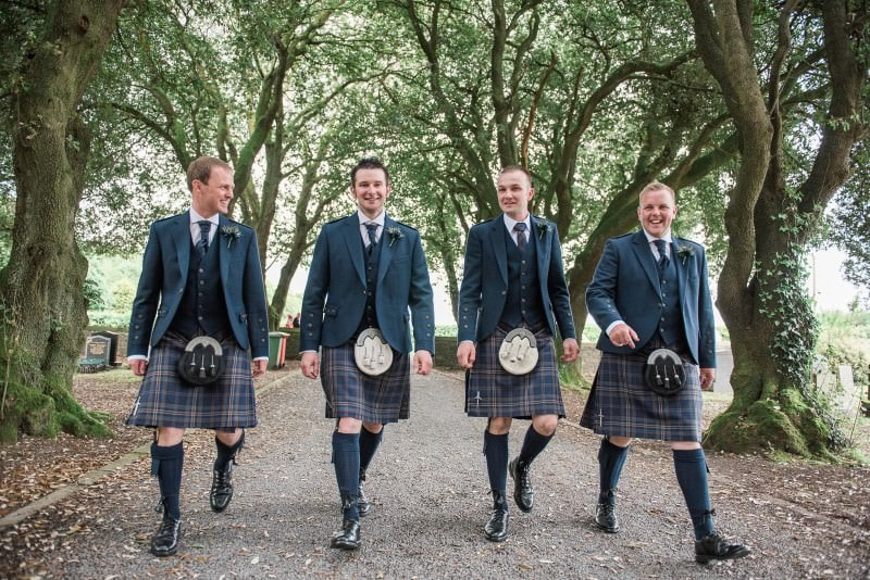 Groomsmen at Inch Church
