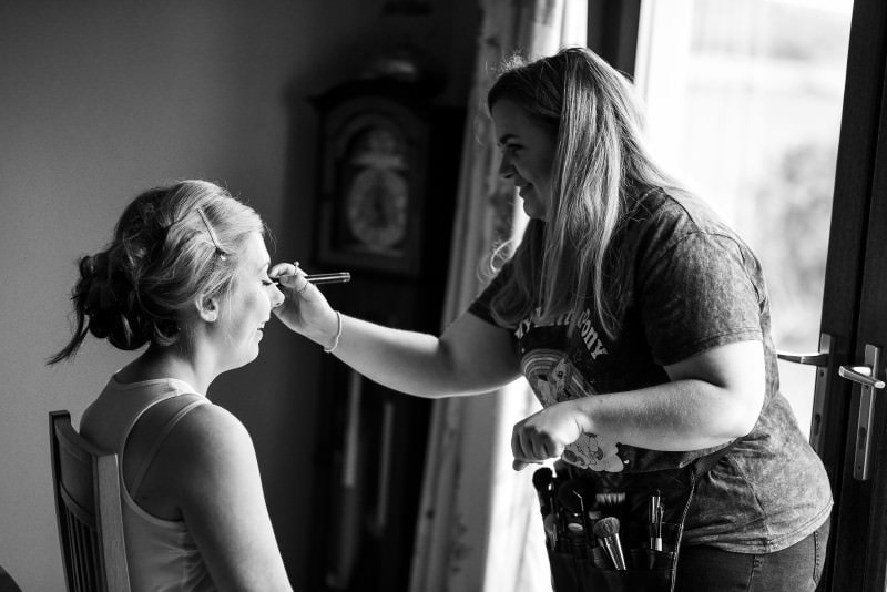 brides makeup wigtownshire wedding