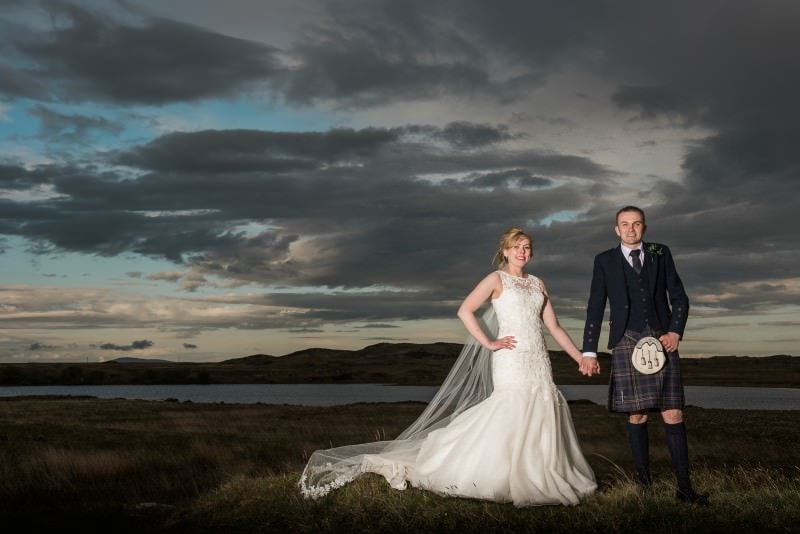 Romantic castle wedding at Old Place of Mochrum in Galloway