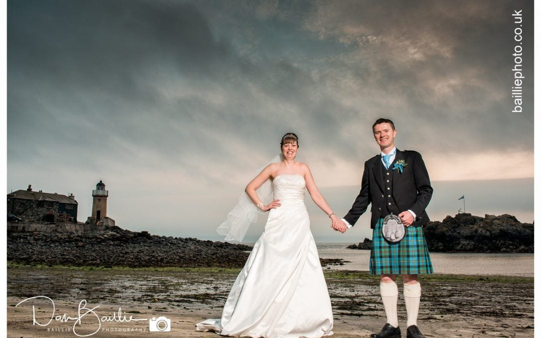 Seaside Wedding at The Old Church, Portpatrick – Karen and Stuart