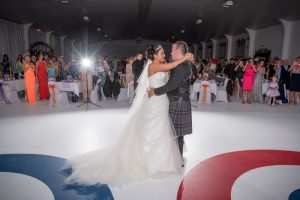 wedding at curling rink north west castle