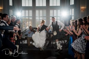 dancing at a wedding at portpatrick hotel