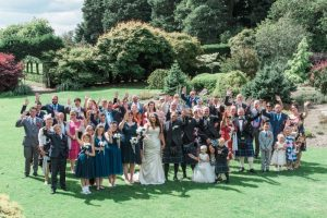 wedding guests at threave gardens