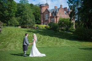 outdoor wedding ceremony at threave gardens