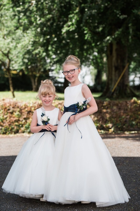 bflower girls at kirkcowan church