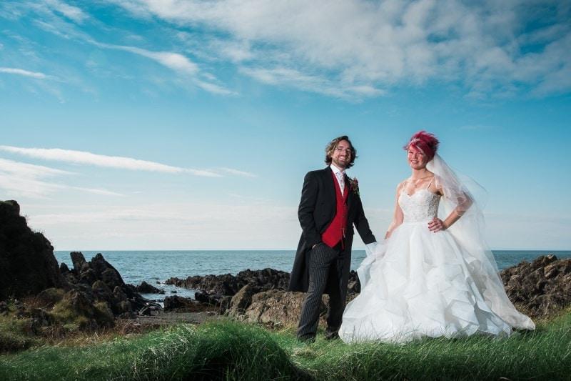 beach wedding at knockinaam lodge