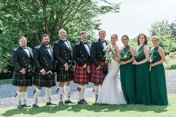 Wedding Party at Dunskey House
