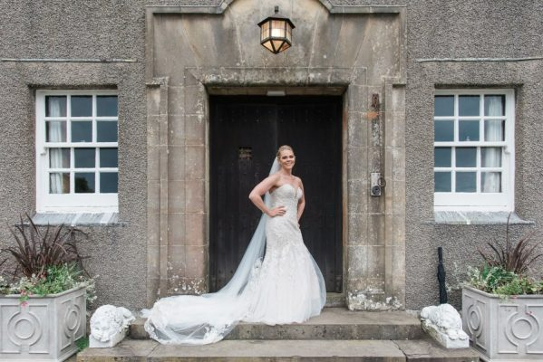 Bride on wedding day at Dunskey House