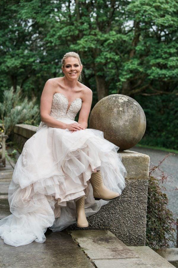 Wedding Day Bride in Wellies
