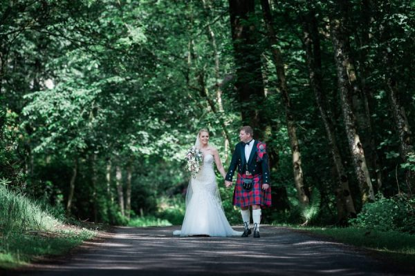Bride and Groom at Dunskey House
