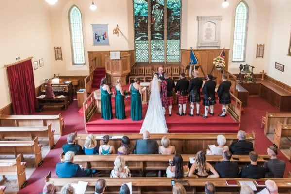 Wedding at Portpatrick Church