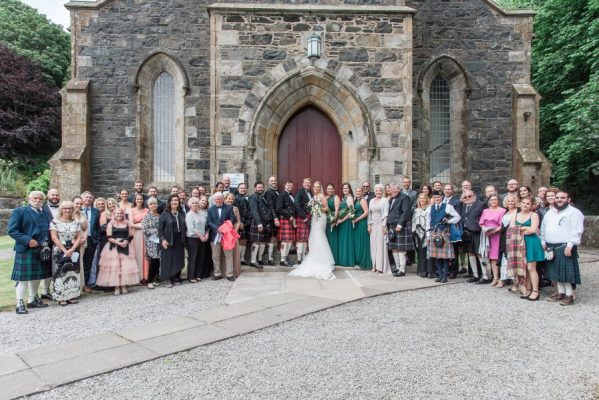 Wedding Guests at Portpatrick Church