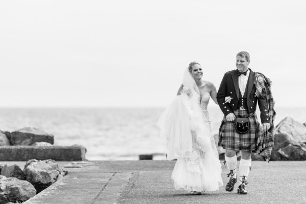Bride and Groom at Portpatrick