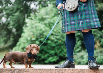 Kilt and sausage dog