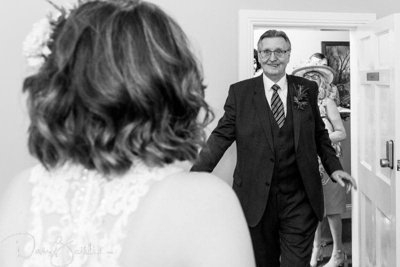Father sees his daughter the bride