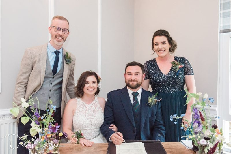 bride and groom and witnesses
