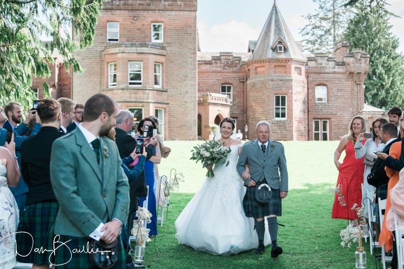 friars carse outdoor wedding
