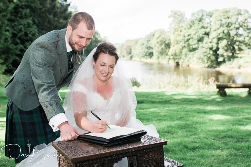 Signing the marriage register