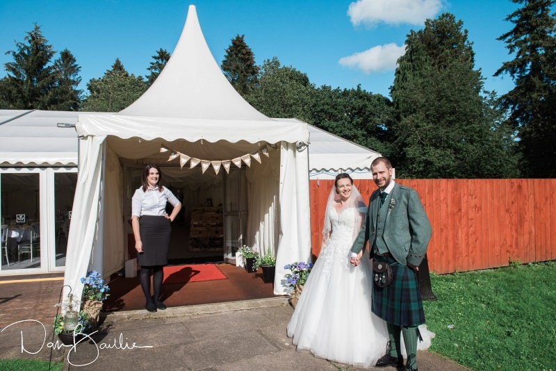 friars carse wedding marquee