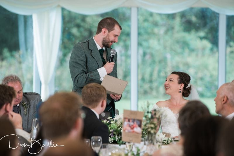 wedding speeches at friars carse