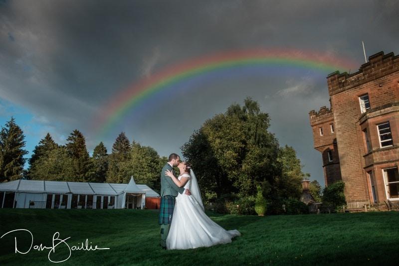 rainbow on wedding day