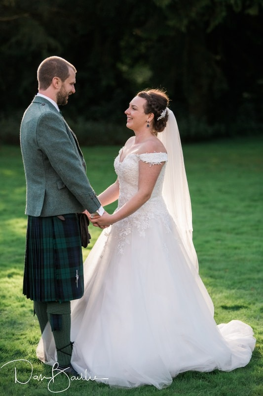 bride and groom at friars carse